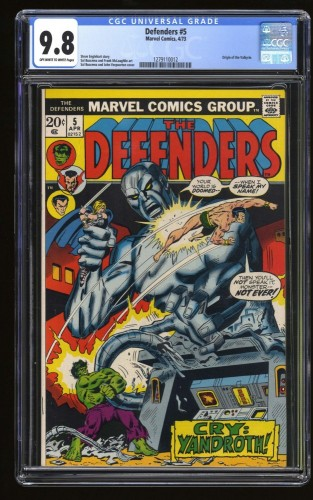 Item: Defenders #5 CGC NM/M 9.8 White Pages