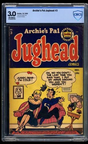 Item: Archie's Pal Jughead #3 CBCS GD/VG 3.0 Off-White