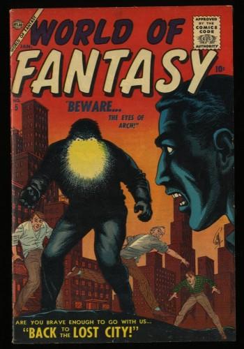 Item: World Of Fantasy #5 FN/VF 7.0 White Circle 8