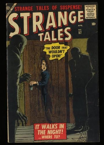 Item: Strange Tales #57 VF 8.0 White Circle 8