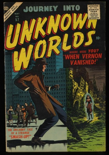 Item: Journey Into Unknown Worlds #57 VF- 7.5 White Circle 8
