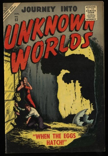 Item: Journey Into Unknown Worlds #53 VF 8.0 White Circle 8