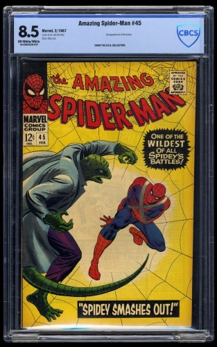 Item: Amazing Spider-Man #45 CBCS VF+ 8.5 Off-White/White
