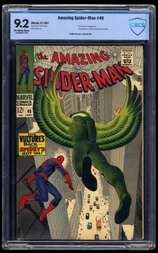 Item: Amazing Spider-Man #48 CBCS NM- 9.2 Off-White/White