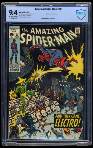 Item: Amazing Spider-Man #82 CBCS NM 9.4 Off White to White