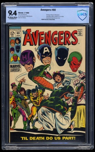 Item: Avengers #60 CBCS NM 9.4 Off White to White