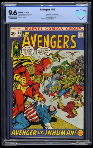 Item: Avengers #95 CBCS NM+ 9.6 Off White to White