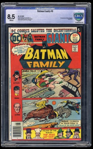 Item: Batman Family #6 CBCS VF+ 8.5 White