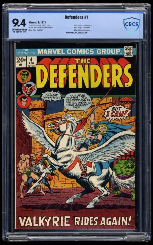 Item: Defenders #4 CBCS NM 9.4 Off White to White