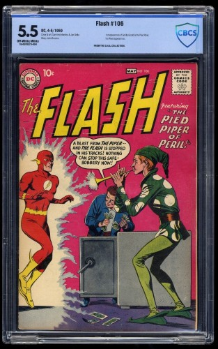 Item: Flash #106 CBCS FN- 5.5 Off-White/White 1st Gorilla Grodd!