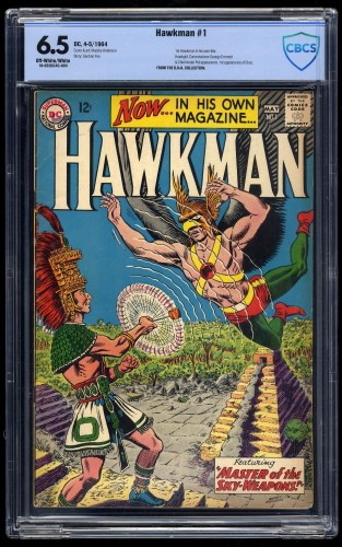 Item: Hawkman #1 CBCS FN+ 6.5 Off White to White