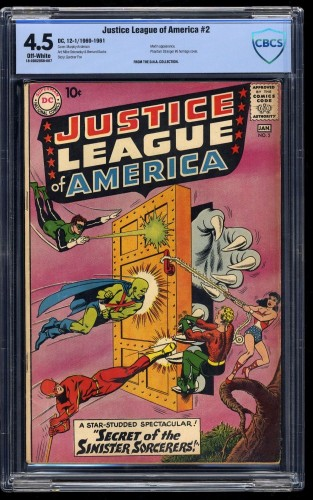 Item: Justice League Of America #2 CBCS VG+ 4.5 Off White