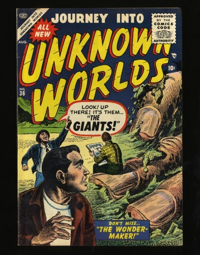 Item: Journey Into Unknown Worlds #36 VG/FN 5.0