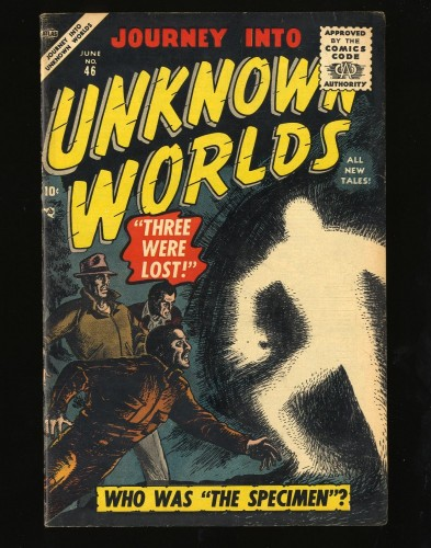 Item: Journey Into Unknown Worlds #46 VF- 7.5