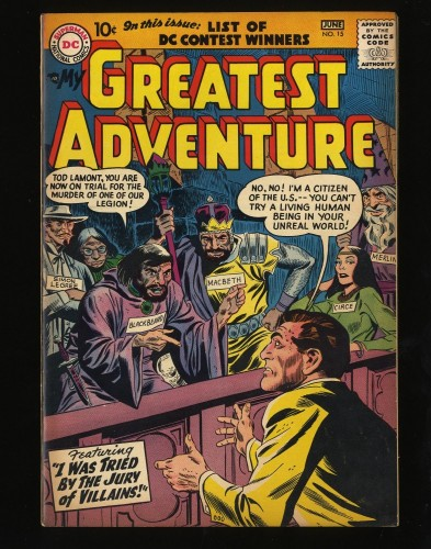 Item: My Greatest Adventure #15 VF/NM 9.0 Big Apple Jack Kirby Art!