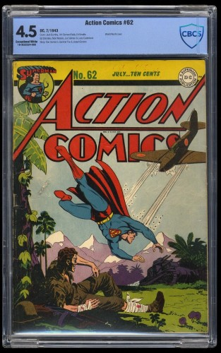 Item: Action Comics #62 CBCS VG+ 4.5 White