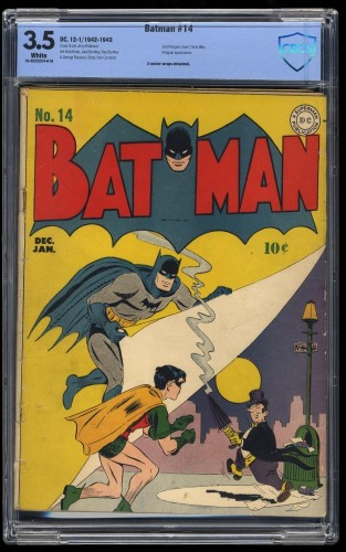 Item: Batman #14 CBCS VG- 3.5 White Pages