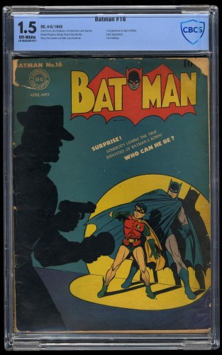 Item: Batman #16 CBCS FA/GD 1.5 Off White