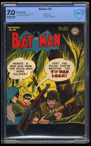 Item: Batman #30 CBCS FN/VF 7.0 Off White to White