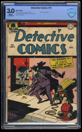 Item: Detective Comics #91 CBCS GD/VG 3.0 White pages