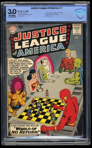 Item: Justice League Of America #1 CBCS GD/VG 3.0 Off White