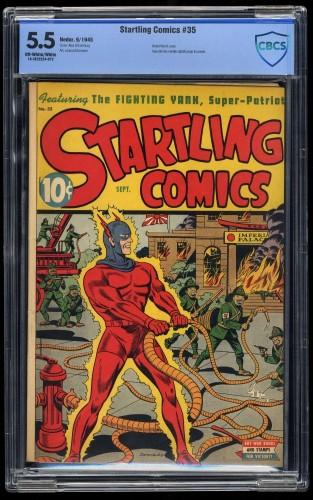 Item: Startling Comics #35 CBCS FN- 5.5 Off-White/White Schomburg Cover!