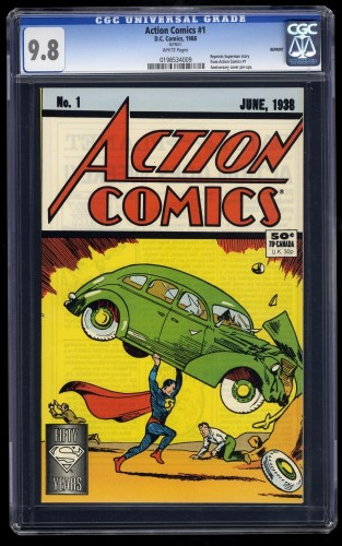 Item: Action Comics #1 CGC NM/M 9.8 White 1988 REPRINT