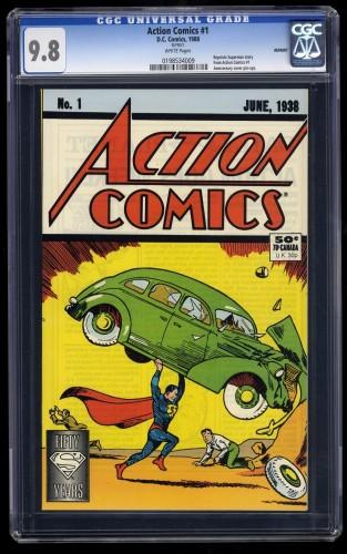 Item: Action Comics #1 CGC NM/M 9.8 White 1988 REPRINT