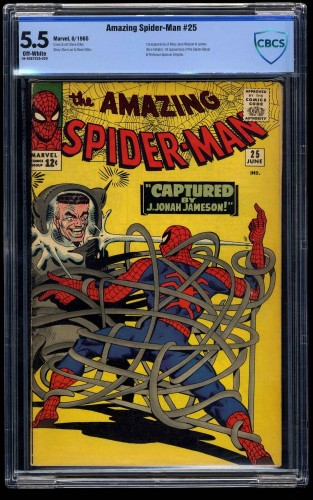 Item: Amazing Spider-Man #25 CBCS FN- 5.5 Off White
