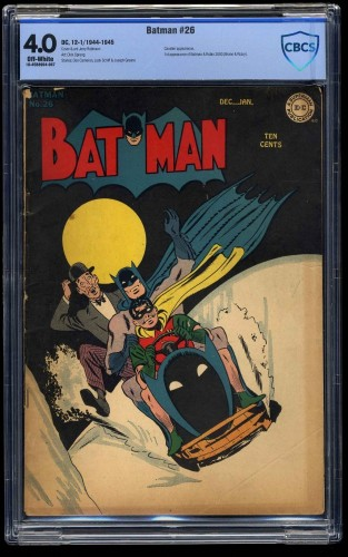 Item: Batman #26 CBCS VG 4.0 Off White