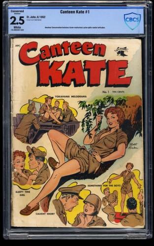 Item: Canteen Kate #1 CBCS GD+ 2.5 White Pages (Restored) Matt Baker art!