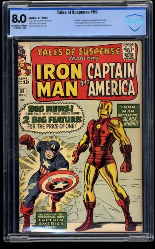Item: Tales of Suspense #59 CBCS VF 8.0 Off White to White