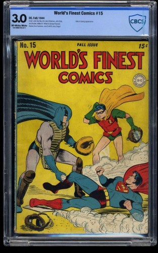 Item: World's Finest Comics #15 CBCS GD/VG 3.0 Off White to White