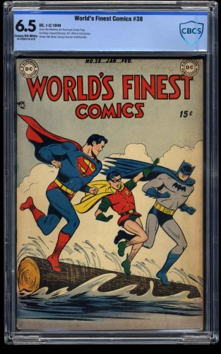 Item: World's Finest Comics #38 CBCS FN+ 6.5 Cream To Off White