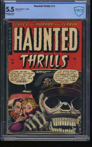 Item: Haunted Thrills #13 CBCS FN- 5.5 Off White to White