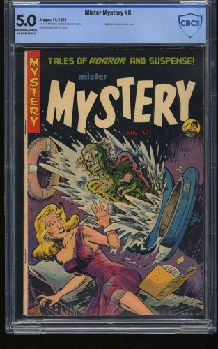 Item: Mister Mystery #8 CBCS VG/FN 5.0 Off White to White