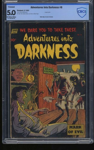 Item: Adventures Into Darkness #8 CBCS VG/FN 5.0 Off White to White (Restored)