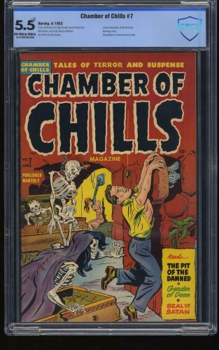 Item: Chamber of Chills #7 CBCS FN- 5.5 Off White to White