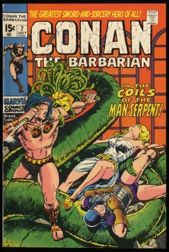 Conan The Barbarian #7 VF+ 8.5 Ramey Collection Marvel Comics