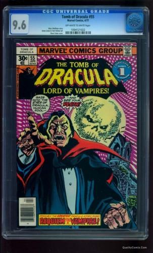 Tomb Of Dracula #55 CGC NM+ 9.6 Off-White to White Tongie Farm Collection