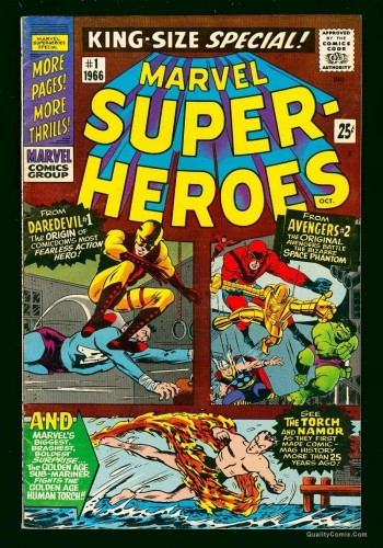 Marvel Super-heroes #1 VF 8.0 Tongie Farm Collection