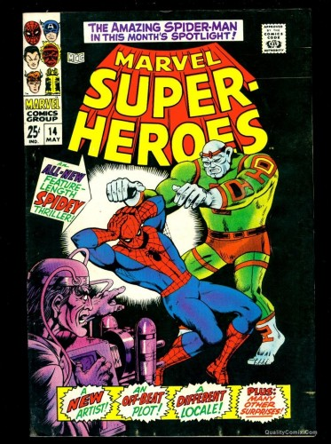 Marvel Super-Heroes #14 FN/VF 7.0 Tongie Farm Collection Comics