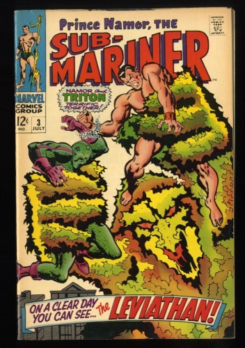 Sub-Mariner #3 FN+ 6.5 Tongie Farm Collection Marvel Comics