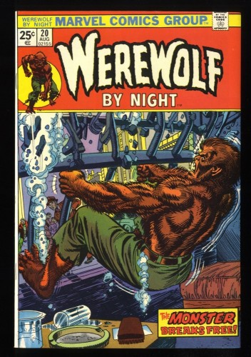 Werewolf By Night #20 VF+ 8.5 White Pages