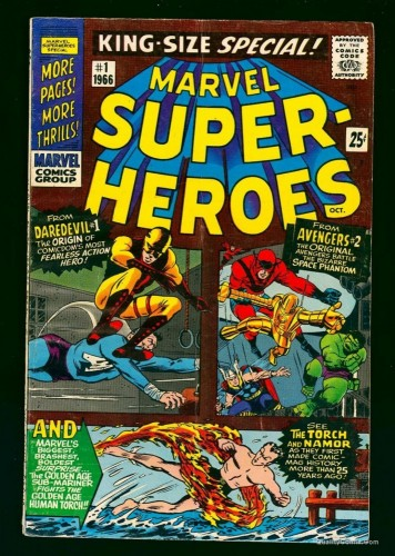 Marvel Super-Heroes #1 VG 4.0 Comics