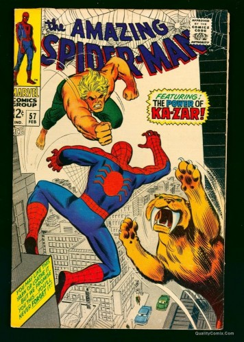 Amazing Spider-Man #57 FN 6.0 Marvel Comics Spiderman