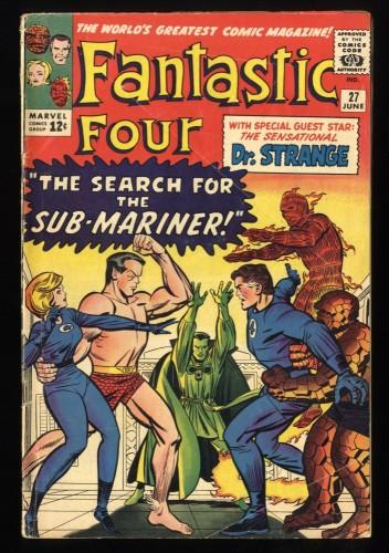 Fantastic Four #27 GD+ 2.5 Marvel Comics