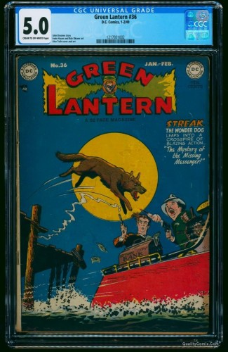 Green Lantern (1941) #36 CGC VG/FN 5.0 Cream To Off White