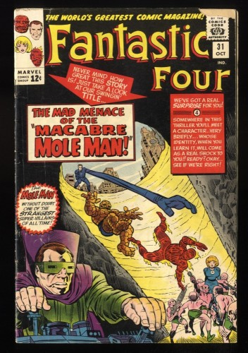 Fantastic Four #31 GD+ 2.5 Marvel Comics