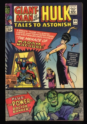 Tales To Astonish #66 FN/VF 7.0 White Pages giant ant man hulk